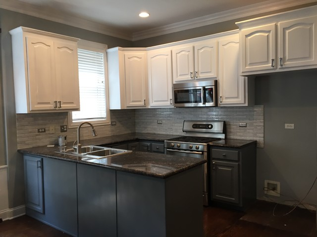 This Kitchen We Did The Upper Cabinets In Crisp White